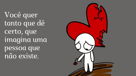 Personagem triste com o coração partido e segurando uma flor triste.